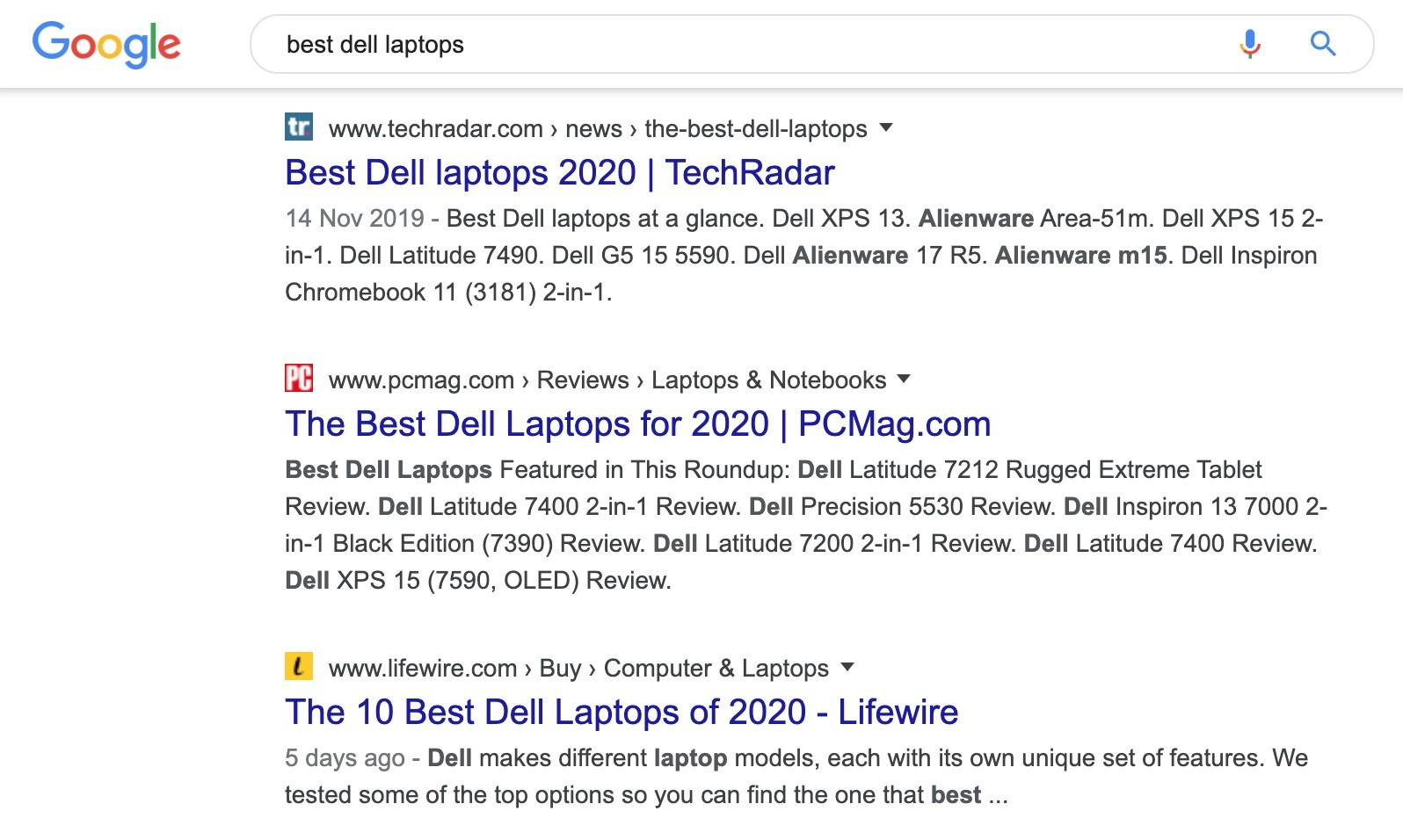 best dell laptop serp